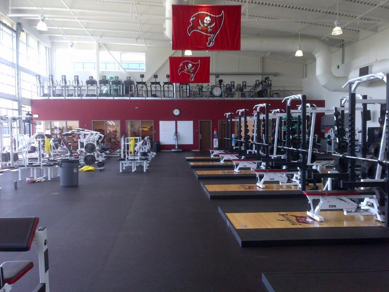 Our patented platform shown inside the Tampa Bay Buccaneers complex.